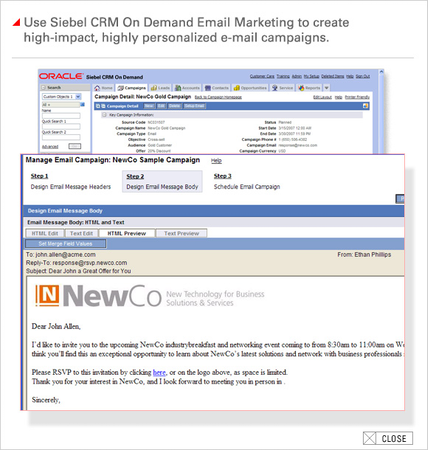 oracle crm on demand application