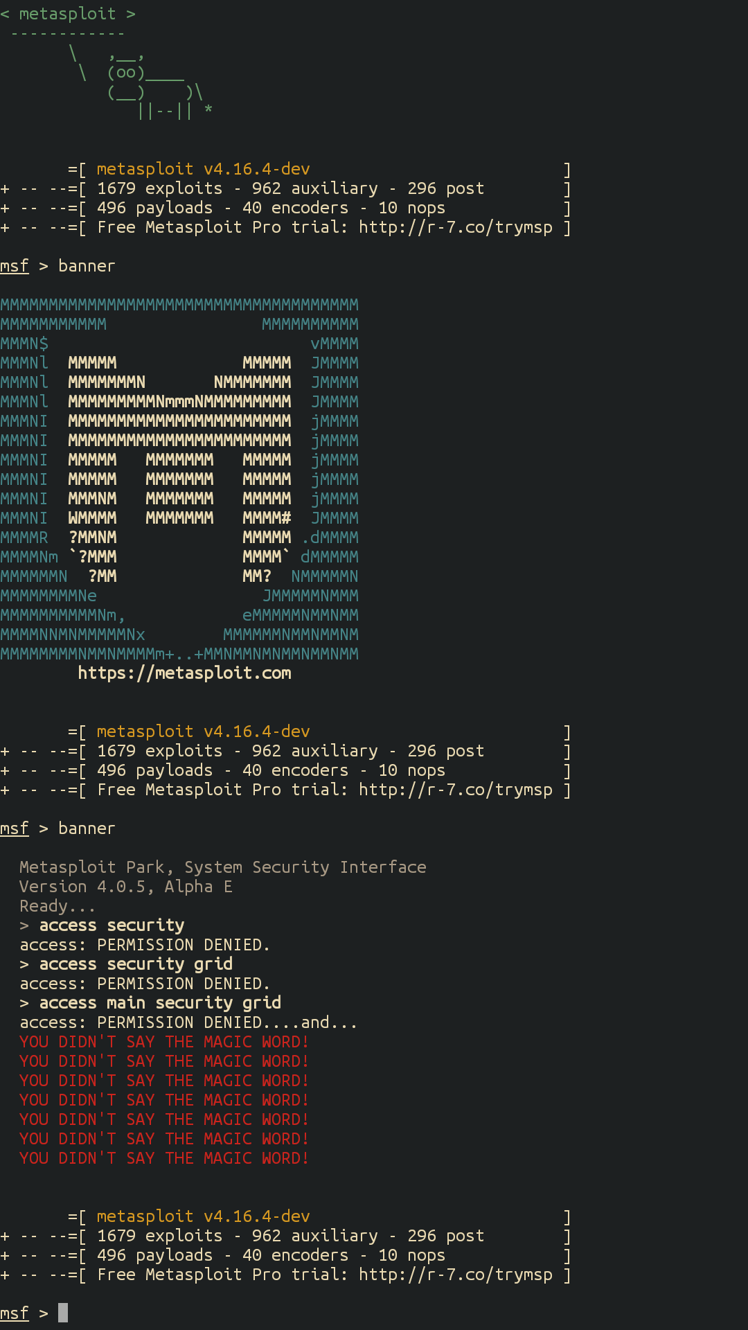 effectiveness of the metasploit application for penetration testing