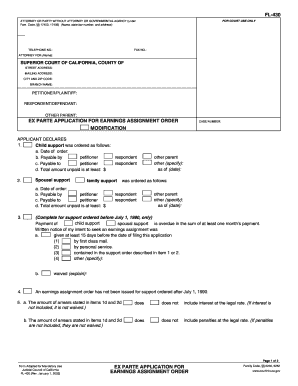 order to paperwork for spousal application
