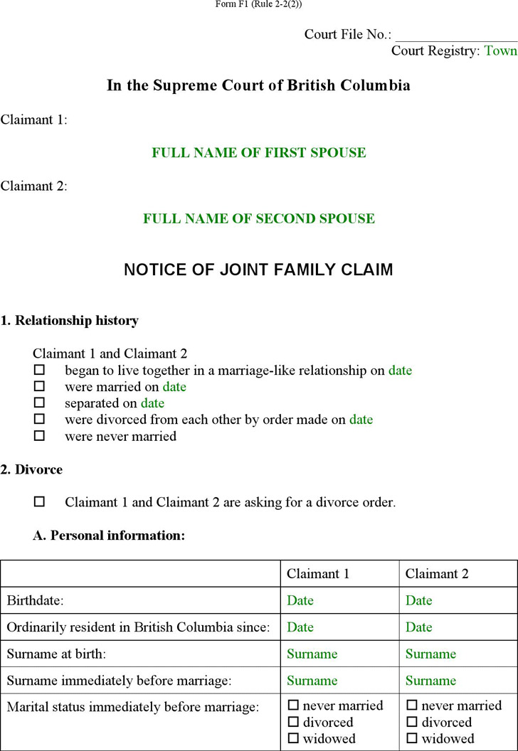 joint divorce application ontario double fees