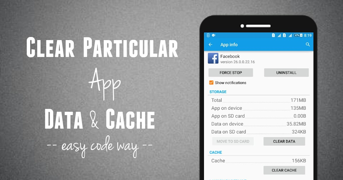how to delete your applications cache