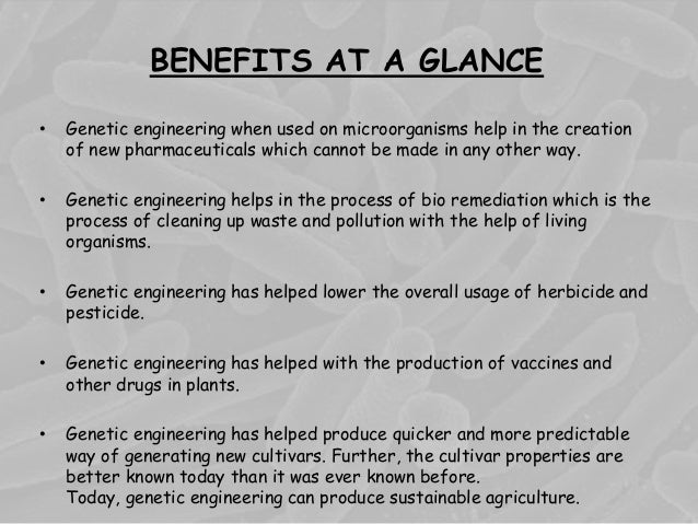 application of plant genetic engineering in agriculture