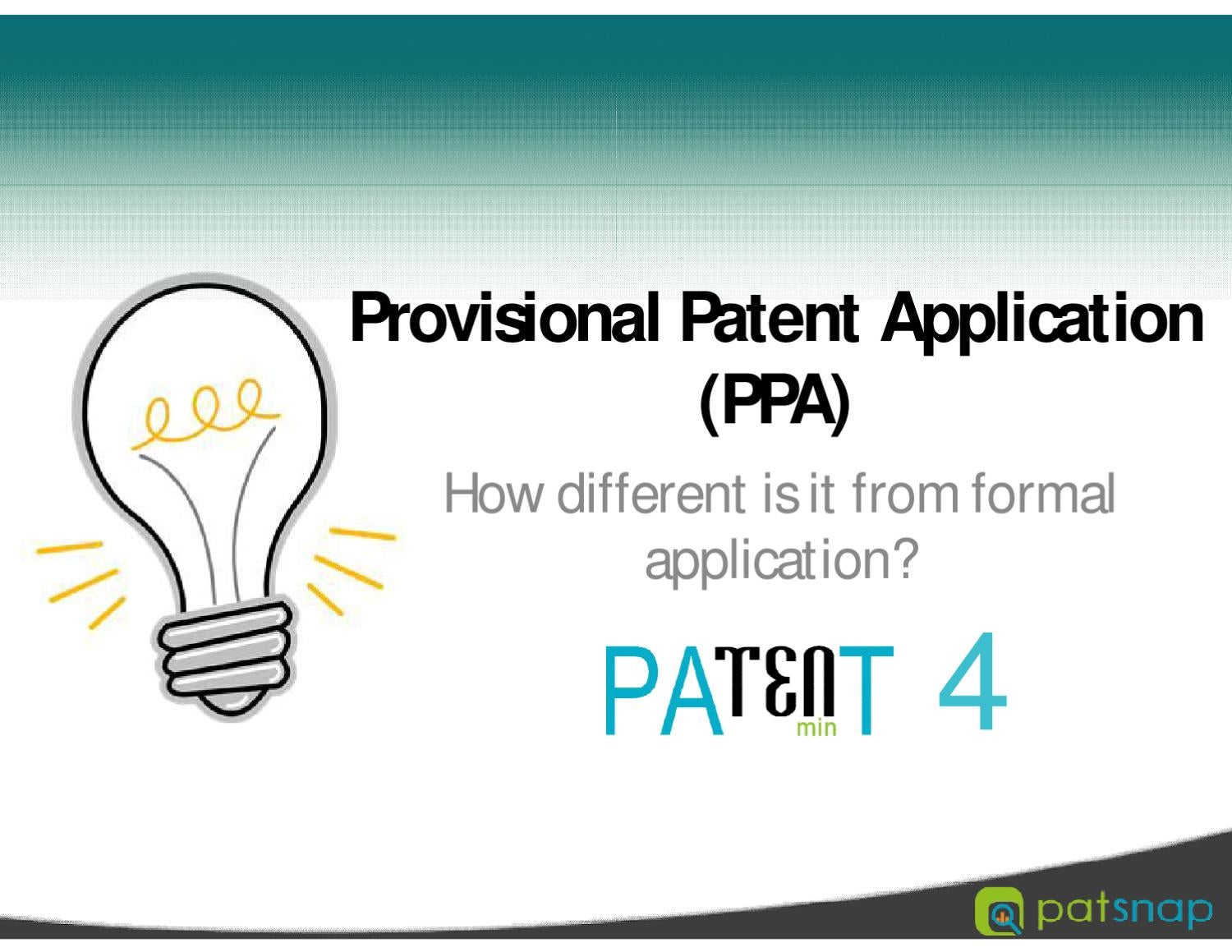 completing a provisional patent application