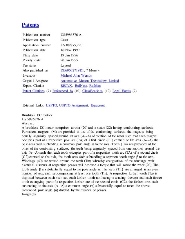 is us patent application publication useful for cv